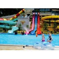 Quality Amusement Park Pipe Water Slide / Fun Water Slides Anti Fading With UV for sale