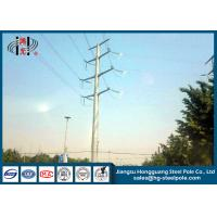 Quality 50FT 2 Sections 69KV Electrical Power Transmission Pole With Galvanization / Bitumen for sale