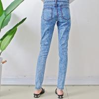 China Cotton / Spandex Girls Ripped Skinny Jeans Casual Trousers Breathable OEM Service on sale
