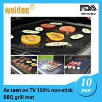 Quality Reusable PTFE Coated Fabric BBQ Grill Mats Dishwasher / portable bbq grill for sale