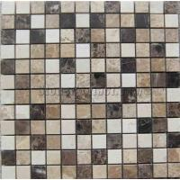 Quality marble mosaic PY-1599SW mixed glass+stainless steel mosaics for sale