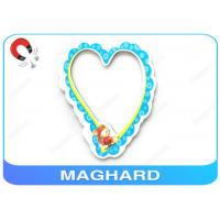 China RoHS Offset Printing Magnetic Heart Shaped Photo Frames For Refrigerator , PP Laminated on sale