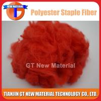 Quality Red / Blue Recycled Polyester Staple Fiber, Dope Dyed RPSF for Nonwoven / Spinning 1.5D-15D for sale