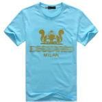 Quality Brand Fashion T-Shirt Men Tee Cotton T Shirt Blue #Dt51 for sale