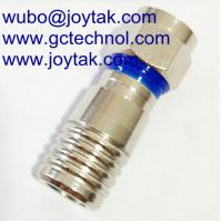 Quality F compression connector coaxial compression connector for RG6 coaxial cable for sale