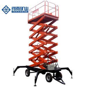 3 Phase 380v 50hz Scissor Lift Equipment , 14m 230kg Scissor Work Platform