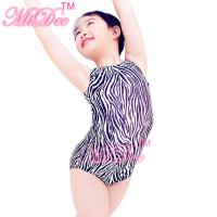 Quality Confetti Strechy Spandex Zebra Animal Prints Sleeveless Leotard Dance Wear Accessories for sale