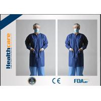 Quality SPP Disposable Protective Gowns , Disposable Laboratory CoatsWith Knit Cuff for sale