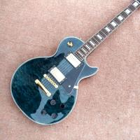 Quality New style high quality custom LP Style electric guitar Gold Hardware in Blue Quilte Maple Electric Guitar Free Shipping for sale