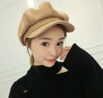 Quality Female winter autumn Korean tide leisure wild wool woolen berets cap cap fashion retro octagonal cap for sale