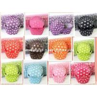 Quality Beautiful Polka Dots Design Paper Cake Cup (MKKA110) for sale