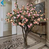 Indoor Decoration Artificial Rose Tree 1.8m Height Customized Design for sale