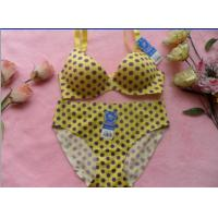 Buy cheap Yellow Spot Convertible Eco-Friendly Breathable Matching Bra And Underwear Sets For Women from wholesalers