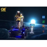 Buy cheap 2 Seat Amusement Park VR Spaceship Simulator Blue & Black Color 1 Year Warranty from wholesalers