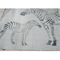 Zebra Pattern Personalised Adult Blanket Black And White With SGS