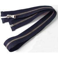 China No.5 Open End Big Metal Zipper With Big Teeth , Coil Separating Zipper on sale