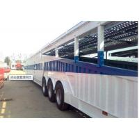 China 3 axle cargo utility trailers for Animal Transporter and Pig Delivery 12450 × 2490 × 1557 on sale