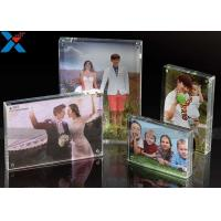 Quality Clear Double Sided Acrylic Block Photo Frame , Acrylic Magnetic Picture Frames for sale