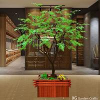 Light Weight Washable Artificial Green Maple Leaves For Pub Decoration for sale