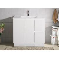 Quality Ceramic Basin Polymarble Top Bathroom Vanity for sale