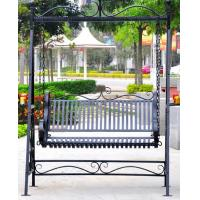 Quality Metal Garden Other Furniture Two Seater Wrought Iron Hanging Swing Chair for sale