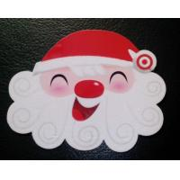 Quality Popular Christmas Custom Design Plastic PVC Flocking Velvet Cards with ISO standard for sale