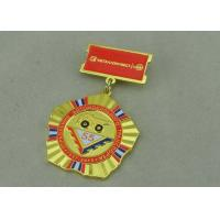 Quality Zinc Alloy Military Custom Awards Medals 3D Die Casting With Soft Enamel for sale