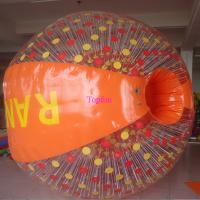 Buy cheap Cushion Inflatable Zorb Ball / Color D-Ring Inflatable Ball Zorb Rollig With Ramp product