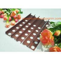 Quality 10mm Aluminium Tile Edge Trim , Straight Edge Bathroom Outside Tile Corner Trim for sale