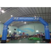 Quality Durable Blue PVC Inflatable Finish Line Race Arch CE / EN71 Certificated for sale