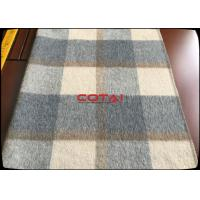 Quality Wholesale 60 Wool 900G/M Double Sided 8CM Tartan / Plaid Fabric With Gray Twill Inside Coating Wool Fabric for sale