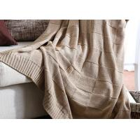Quality Professional Knitted Wool Blanket Flame Retardant For Home / Car for sale
