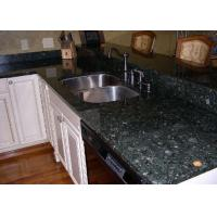 Custom Kitchen Granite Slab Countertops Butterfly Green Color Polish Finished