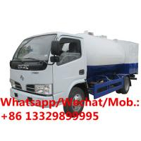 Quality New dongfeng 5000L propane delivery 5cbm lpg filling mini mobile gas refueling truck for domestic gas cylinders for sale for sale