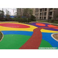 Quality Colorful EPDM Rubber Granules Flooring for Kindergarten / Playground for sale