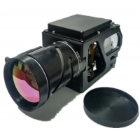 Quality 280mm Long Focal Length Continuous Zoom Miniature Airborne MWIR Cooled Thermal Security Camera for sale