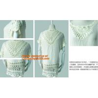 China Fashion tassel, Hollow knitted Swimwear, swimsuit Crochet Bikini Beach Cover Up Smock Mini on sale