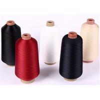 Quality Red Colour High Tenacity Polyester Yarn / 600D High Elastic Yarn For Shoe Upper for sale