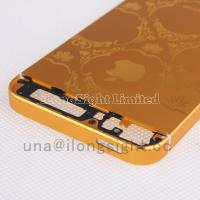 Quality Gold back cover with decorative pattern replacement for iphone 5s for sale