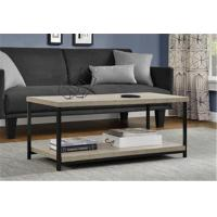 Quality Rustic Square Wood And Metal Coffee Table , Industrial Metal Coffee Table For Sitting Room for sale