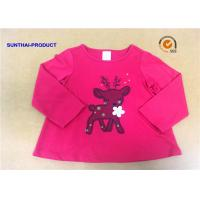 Quality Customized Children T Shirt 100% Cotton Long Sleeve Baby Girl Tee Shirts for sale