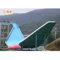 Quality Large Fiberglass Water Slide With 12 - Meter High Platform Down for sale