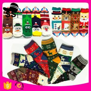 China 2017 HB-1001 95%Cotton 5%Spandex 30g 9-11cm Santa Claus Stock Handmade Stocking Xmas Decoration Christmas Knitting Socks on sale