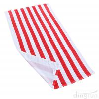 Quality Soft Absorbent and Plush 100% Cotton Cabana Striped Beach Pool Bath Towel for sale