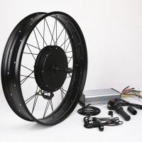 Quality Front Wheel Electric Bike Conversion Kit FAT TIRE Riders Travel Use In Wilder Terrain for sale