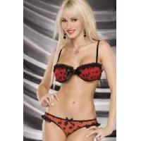 Quality Cute Style Satin Bra and Panty Set for sale