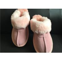 Quality AUSTRALIA kids Sheepskin Slippers Chestnut Winter Warm Indoor Shoes for sale