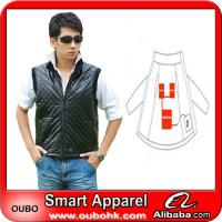 China Fashion men leather vest with electric heating system heated clothing warm OUBOHK on sale