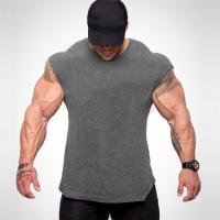 China wholesale comfortable high quality fashionable blank bodybuilding men's gym t-shirts on sale