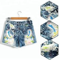 China Adjustable Waist Children's Denim Shorts , Spring / Summer Little Girl Jeans Shorts on sale